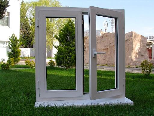 Cửa sổ mở quay 2 cánh nhôm xingfa - Nhôm kính Thanh Bình