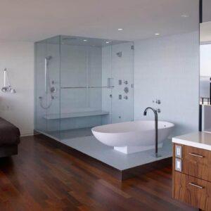Vách kính phòng tắm - Nhôm kính Thanh Bình